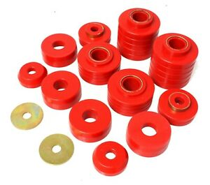 Energy Suspension 4 4107r Red Body Mount Set For 80 98 Ford F100 F150 F250 F350