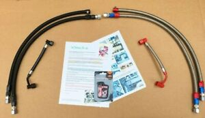 1986 1989 Porsche 944 Turbo 944na Braided Fuel Lines 3 Pcs Kit In Ss Or Black