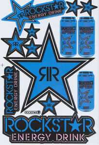 New Rockstar Energy Motocross Racing Graphic Stickers decals 1 Sheet st201