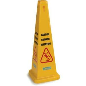 Carlisle 3694104 Caution Cones And Barriers Caution Cone 36 Yellow 3 Pack