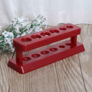 Red Test Tube Holder 6 Hole Plastic Rack Stand Burette Stand Shelf Laboratory