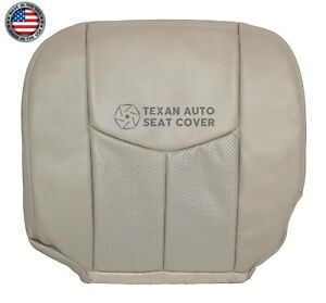 2003 Cadillac Escalade Esv Driver Bottom Perforated Leather Seat Cover Shale Tan