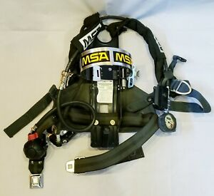 Msa Nightfighter Frame Harness 4500psi Scba Air Bottle Tank Cylinder Backpack