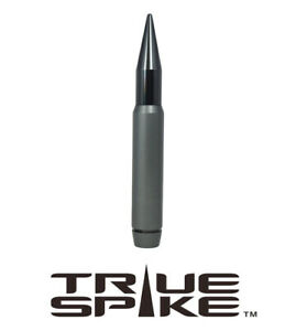 True Spike 7 Fat Bullet Spiked Antenna Gunmetal For 07 18 Jeep Wrangler Jk