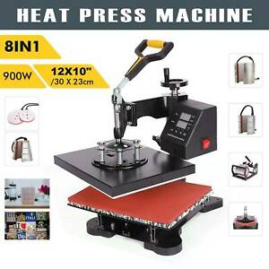 New 8 In 1 Heat Press Machine Swing Away Digital Sublimation T shirt mug plate