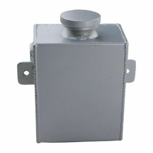 Universal Aluminum Radiator Overflow Coolant Expansion Water Tank Bottle Silver