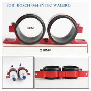 60mm Id Dual Aluminum Fuel Pump Bracket Fit Bosch 044 Walbro Sytec Pumps Filter