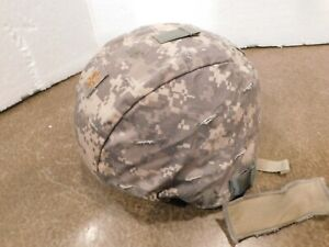 US Iraq Afghanistan war ACH MICH helmet MSA 2005 size Large ACU cover Used EX