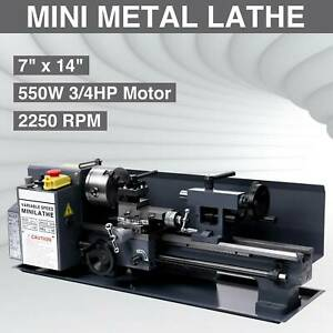 7 X 14 mini Metal Lathe Machine 550w Variable Speed 2250 Rpm 3 4hp Upgraded