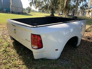 2010 2018 Dodge Ram 3500 Dual Rear Wheel Dually Truck Bed White W Tailgate