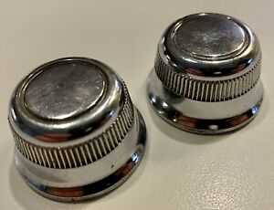 Pair 2 Knobs 1967 Chevy Chevelle Corvair Impala 8 Track Stereo Player 7300481