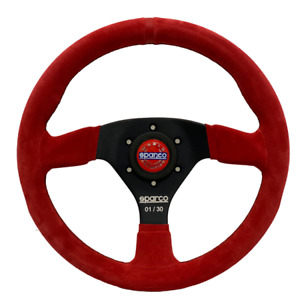 Limited Edition Sparco Steering Wheel R383 Red Suede