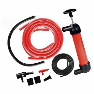Manual Siphon Pump Kit Heavy duty Hand Pumping Pipe Fast Acting 15 Siph