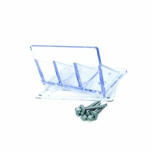 Snow Guard jumbo Uv Clear 20 Qty Includes Perfect Seal Gasket And Mount