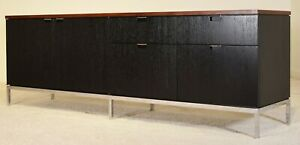 Florence Knoll Credenza Rosewood Top Cabinet Vintage Mid Century Modern