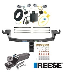 Reese Trailer Tow Hitch For 14 18 Jeep Cherokee Complete W Wiring And 2 Ball
