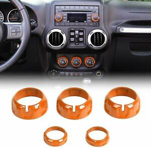 For Jeep Wrangler Jk 2011 2017 Center Control Decoration Switch Cover Ring Trim