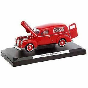 Coca-Cola 1940 Ford Sedan Delivery Panel Van Red Die Cast Model Car 1:24 Scale