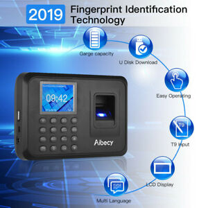 Biometric 2 4 lcd Attendance Machine Fingerprint Password Time Clock Reader M7g3