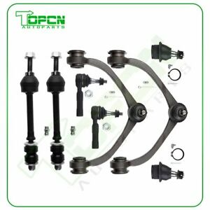 8set Fits 05 2011 Dodge Dakota Ball Joint Front Tie Rods Sway Bars Control Arms
