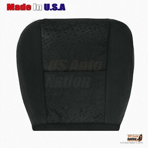 2007 2008 2009 Chevy Silverado 2500hd Front Driver Bottom Black Cloth Seat Cover