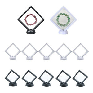 10pcs Jewelry Display Frame Holders W Stands For Necklaces Coins Rings