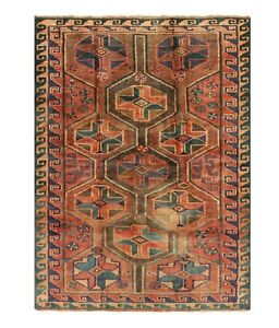 Hand Knotted Tribal Luri Oriental Rug Wool Rust Nomadic Carpet 4 8 X 6 1
