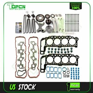 For 2004 2007 Dodge Durango Jeep 4 7l Timing Chain Kit Head Gasket Bolts Set