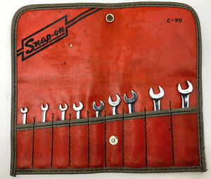 Snap On C90 9 Piece Sae Kit 6 Point Ignition Vintage