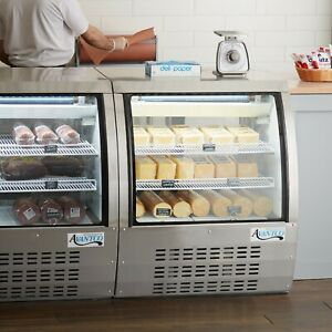 36 Silver Floor Model Refrigerated Deli Seafood Bakery Meat Pastry Display Case