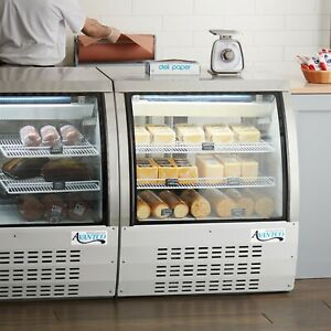 36 White Floor Model Refrigerated Deli Seafood Bakery Meat Pastry Display Case