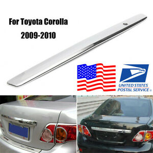 1pcs Sliver Car Rear Trunk Hatch Lid Trim Molding For Toyota Corolla 2009 2010