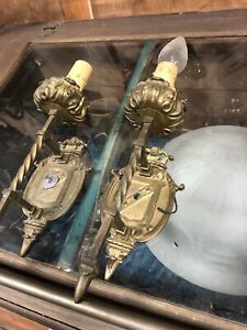 Antique Brass Wall Sconce Elegant Nouveau Wall Sconce 2 Available