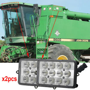 60w 12v 24v 4x6 Led Sealed Headlights For John Deere Combines Tractor Lights X2