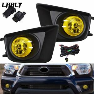 For 2012 15 Toyota Tacom Amber Fog Driving Light Pair Lh Rh Replacement Upgrade