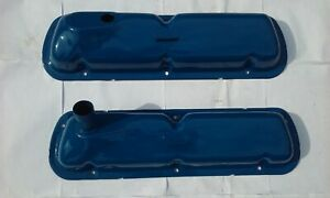 1965 Ford Galaxie 500 Ltd 289 Cid Engine Valve Cover Pair Recent Paint Used