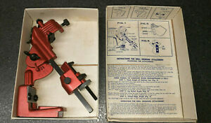 Vtg Snap on Tools Blue Point Drill Grinding Attachment W box For Sharpening Bits
