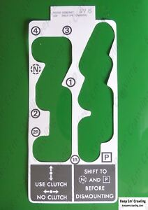 John Deere R55292 Quad Range Shift Pattern Decal 4030 4230 4430 4630 8430 8630