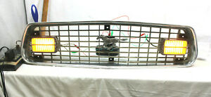 1974 1975 Ford Mustang Ii Oem Grille Grill With Working Marker Lamp Lights 74 75