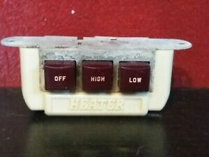 rare Buick Chevy Nos Vintage 6 Volt Heater Blower Switch Ford Illuminated