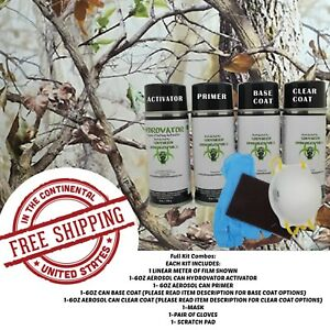 Hydrdographic Water Transfer Hydro Dip Full Kit Activator 1m Tree Camo 6 Film