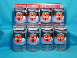 COCA-COLA / Coke / Polar Bear * Always Cool / 16oz Glasses / Set of 8 with Box