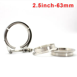 3pcs Set Flange Clamp Kit Universal Replacement Fit For Turbo Exhaust Downpipes