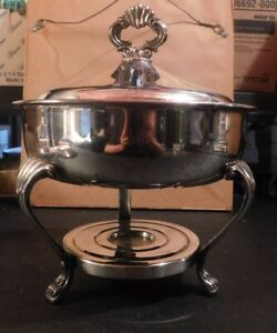 F B Rogers Silver Co Footed Serving Warming Dish W Lid