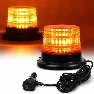 Led Warning Light Emergency 12v 24v Flashing Beacon Amber New Strobe Car Vehicle