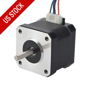 Nema 17 Stepper Motor 62oz in 1 7a 42mm Bipolar 1 8deg 4 lead For 3d Printer