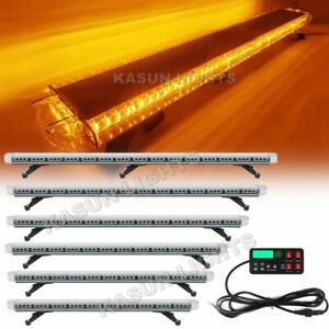 47 55 63 72 Led Strobe Light Bar Amber Warning Emergency Beacon Truck Tow