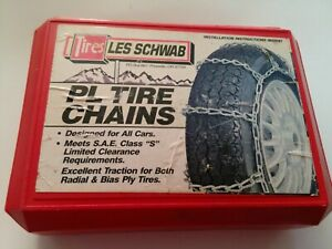 Tires Les Schwab Pl 1134 Tire Chains 29110 Passenger Car Rubber Snow All Car
