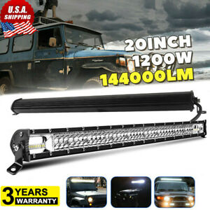 20 Inch Dual row Led Work Light Bar Combo Offroad Driving Lamp Trucks Boat 22
