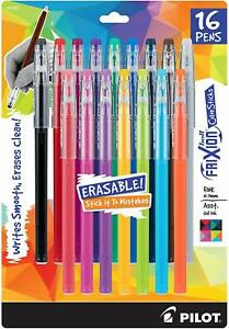 Pilot Frixion Gel Ink Pens Fine Point 7mm 16 Assorted Colors Erasable Ink